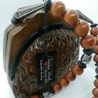 Beverly Hills Timmy Woods Collection Hand Made Handbag Crafted WOOD Brown