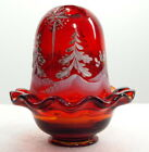 FENTON GLASS RUBY RED FAIRY LIGHT STAR BRIGHT HP SIGNED LABEL BOX BRAND NEW
