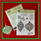 Stampin Up EMBELLISHED ORNAMENTS Stamps  DELICATE ORNAMENTS Dies