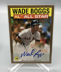 2021 Topps Wade Boggs All-Star #86AS-WB Gold Autograph Auto 02 25 Boston Red Sox