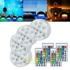4pcs Pool Lights with 4pcs Remote Control Diving Decor Lights for Fountain Pond