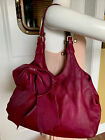 Red Valentino Large Bow 100 Leather Plum Shoulder Bag Acceptable Condition