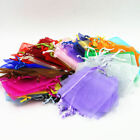 50 500PCS Wedding Party Favor Gift Organza Candy Bags Jewelry Pouch Sheer Decor