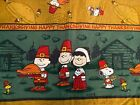 Peanuts Snoopy Thanksgiving tablecloth fabric 68 inches long 55 wide RARE