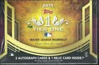 2015 Topps Tier One Baseball Hobby Box Mike Trout AUTO ???
