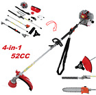 52CC 4 In 1 Straight Shaft String Trimmer Gas Power Weed Eater Brush Cutter Kit