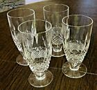 Set of FOUR 4 Waterford Crystal COLLEEN Footed Iced Tea Glass Tumbler 6 5 16