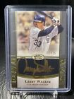 2021 Topps Tier One Larry Walker On Card Autograph 25 Rockies Gold Auto