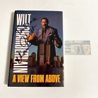 """1991 Wilt Chamberlain Signed """"A View from Above"""" Autograph Book 1st Edition Auto"""