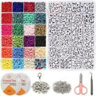 Assorted Beads Bead Craft Kit Set Bracelet Beads for Jewelry Making Glass Beads