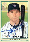 2003 Topps TODD HELTON Signed Card autograph AUTO ROCKIES