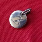 Tiffany  Co Sm Round Notes Initial Letter Z Sterling Silver Disc Charm Pendant