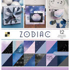 DCWV Double Sided Cardstock Stack 12X12 36 Pkg Zodiac 18 Designs 2 Each 12