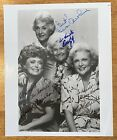 Golden Girls Cast Signed B&W 8x10 Photo JSA Letter X4 Getty McClanahan White