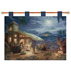Nativity Woven Wall Hanging Tapestry 36 x 26 Free Rod