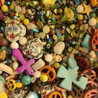 HUGE LOT Lot 3 5 lbs mixed gemstone ceramic shell coral and glass beads