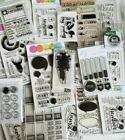 Large Lot 25 Clear Cling Rubber Stamps Scrapbooking Christmas flower Mix