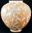 Phoenix Consolidated glass Martele Line Pinecone Two Color Glass Vase