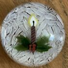 Rare Perthshire 1980 CHRISTMAS CANDLE paperweight