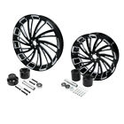 23 Front  18 Rear Wheel Rim w Hub Fit For Harley Touring Street Glide 08 21