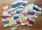 Lot of 28 Rainbow Gallery Embroidery Threads Cards Rayon Silk Polyester Nylon
