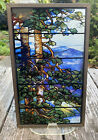 L C Tiffany reproduction stained glass window panel toronto summer