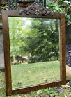 Antique Wood Beveled Wall Mirror Carved Scallop Shell Applique 2525x185 Joint