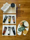 Used Painting Acrylic Paint Brushes Canvas Gesso Art Supplies BLICK UTRECHT