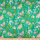 Liberty Fabrics Silk Satin Charmeuse Mabelle Hall Green Fabric by the Yard