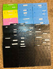 45 Sizzix  Fiskars Double Sided Texture Embossing Plates Total of 90 designs