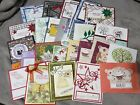Lot of 25 Stampin Up Demonstrator Quality Hand Stamped Cards Lot 4