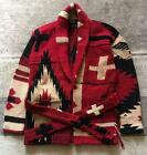 Polo Ralph Lauren Knit gown Native pattern Mens outerwear S size Red Black used