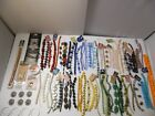 HUGE LOT QUALITY BEADS 75 GEMSTONE  GLASS STRANDS FREE SHIPPING