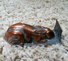 Vintage Copper  Metal Bunny Rabbit Candy Chocolate Wax Soap Mold