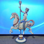 Lladro Retired Figurine Boy on Carousel Horse - Damage To Flowers on Top of Pole