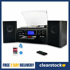 DIGITNOW Bluetooth Vinyl Record Player Turntable with Speakers CD USB Player