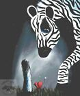 XL To Love and be Loved Counted Cross Stitch Kit Zebra Modern