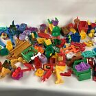 Assorted Lot Fisher Price Little People Mattel Toys Cars Buildings Pieces