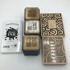 Rubber Stamps Cubes and Black Ink Lot
