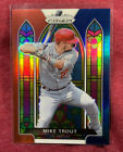 2021 Prizm MIKE TROUT Red White Blue STAINED GLASS SG 1 Cello SP Angels