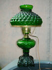 205 Tall Green Glass Diamond Quilted Shade Student Desk Table Lamp