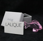 Dazzling LALIQUE France Crystal Pink DAMSEL FISH Art Glass Sculpture BOXED