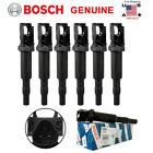 BMW Ignition Coil 6 Pack Updated W Connector Boot Genuine Bosch 0221504470