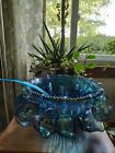 Iridescent Carnival Glass Princess Punch Bowl Set w 12 Cups and Hooks