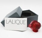 Impressive LALIQUE Crystal France Red PUFFER FISH Art Glass Sculpture BOXED