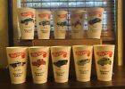 1970 COMPLETE SET 10 Jack In The Box Hot Wheels Redline Promotion Cup Near Mint