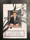George Klein Memorial Pamphlet Direct From Memphis