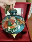 NeQwa Art DASH AWAY ALL Hand Painted Mouth Blown Glass Ornament NEW