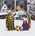 Lighted LED Nativity Holy Family Scene for Outdoor Yard Christmas Lights Up