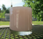 Vintage Early Henry Dean Light Pink 3 1 4 Heavy Glass Candle Holder signed